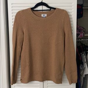 Tan sweater from Old Navy